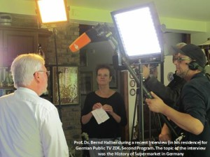Prof. Dr. Bernd Hallier during a recent Interview