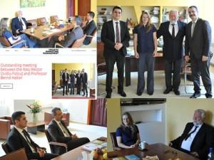 Outstanding meeting between the RAU Rector Ovidiu Folcut and Professor Bernd Hallier