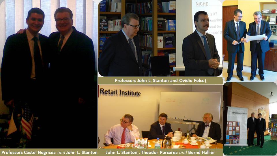 2. Professors Costel Negricea, John L. Stanton, Ovidiu Folcut, Theodor Purcarea, and Bernd Hallier