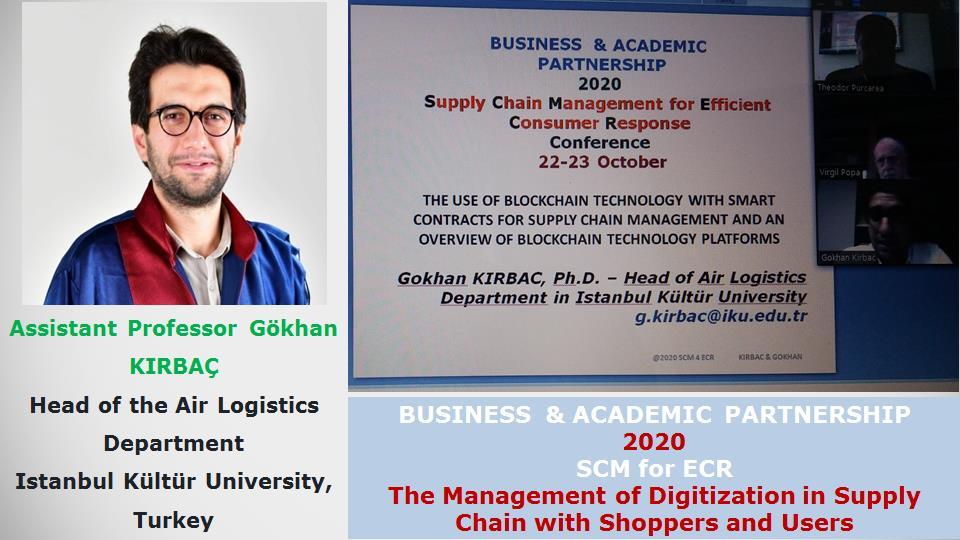 Assistant Professor Gökhan KIRBAÇ, Head of the Air Logistics Department, Istanbul Kültür University, Turkey