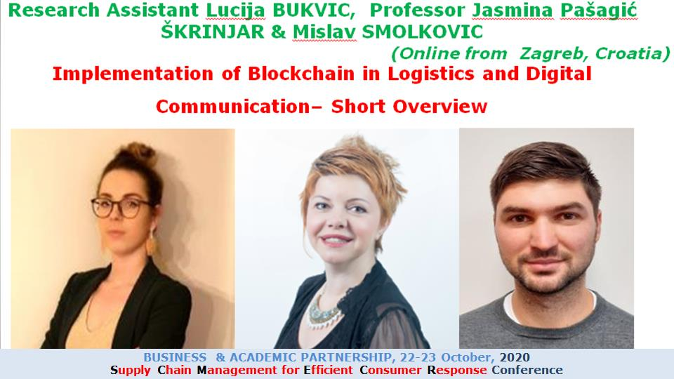 Research Assistant Lucija BUKVIC, Professor Jasmina Pašagić ŠKRINJAR & Mislav SMOLKOVIC, University of Zagreb, Croatia