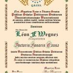 """Léon F. Wegnez, """"Doctor Honoris Causa"""" Diploma"""