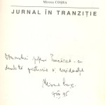 Mircea Cosea, Journal in transition, Dedication