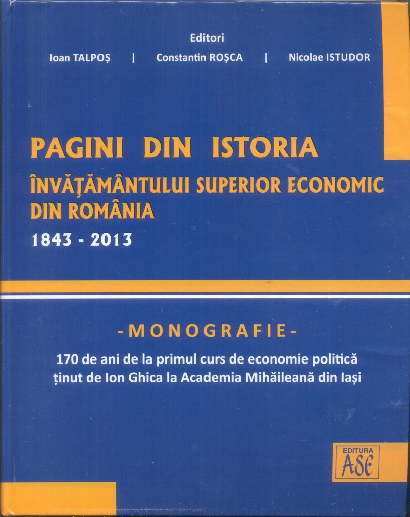 Anniversary Volume, Pages from the Romanian Economic Higher Education History, Cover