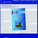 """10. Prezentarea cartii de """"Uzante diplomatice si de protocol"""" in Gazeta Diplomatica, Bruxelles, nr. 45, din decembrie 2004"""