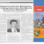 16. Theodor Purcarea, Opportunity for Romania to Integrate into the World Economic Network, 1994
