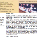 "3. Comentariul Prof. Theodor Purcarea la articolul Prof. Frederic Jenny aparut in ""Financial Times"""