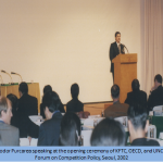 6. Theodor Purcarea speaking at the opening ceremony of KFTC, OECD, and UNCTAD Forum on Competition Policy, Seoul, 2002