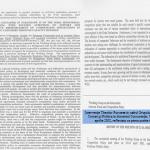 7. Interventie Theodor Purcarea in cadrul Grupului de lucru pentru Comert si Politica in domeniul Concurentei, WTO, Geneva, aprilie 2002, reflectata ca prima pozitie in Raport