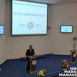 RAU Rector Ovidiu FOLCUT opening the ceremony of 20 Years RAU Anniversary