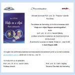 Invitatie lansare carte Prof. Iacob Catoiu, Viata ca o   clipa. Repere autobiografice