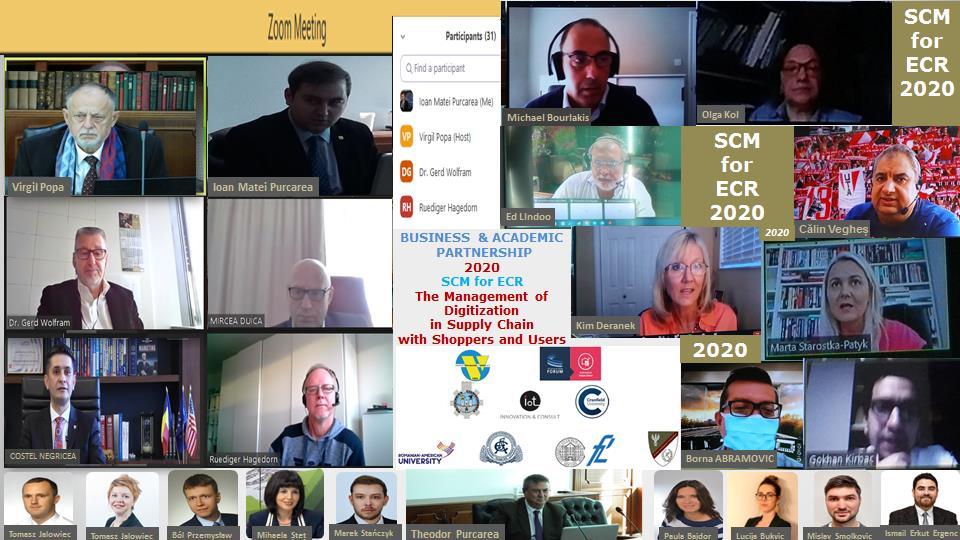 BUSINESS & ACADEMIC PARTNERSHIP 2020 SCM for ECR