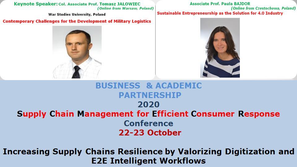 Col. Associate Prof. Tomasz JALOWIEC, War Studies University, Poland; Associate Prof. Paula BAJDOR, Czestochowa University of Technology, Poland